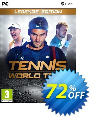 Tennis World Tour Legends Edition PC 優惠券,折扣碼 Tennis World Tour Legends Edition PC Deal,促銷代碼: Tennis World Tour Legends Edition PC Exclusive Easter Sale offer for iVoicesoft