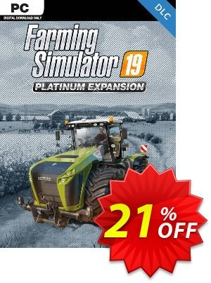 Farming Simulator 19 PC - Platinum Expansion DLC discount coupon Farming Simulator 19 PC - Platinum Expansion DLC Deal - Farming Simulator 19 PC - Platinum Expansion DLC Exclusive Easter Sale offer for iVoicesoft