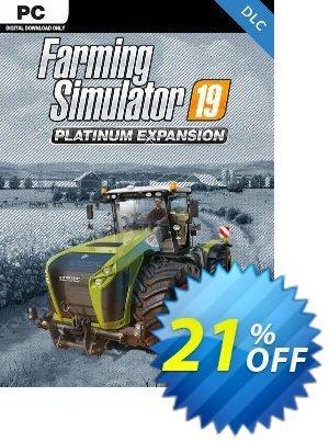 Farming Simulator 19 PC - Platinum Expansion DLC 프로모션 코드 Farming Simulator 19 PC - Platinum Expansion DLC Deal 프로모션: Farming Simulator 19 PC - Platinum Expansion DLC Exclusive Easter Sale offer for iVoicesoft