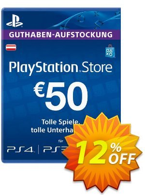 PlayStation Network (PSN) Card - 50 EUR (Austria) Coupon, discount PlayStation Network (PSN) Card - 50 EUR (Austria) Deal. Promotion: PlayStation Network (PSN) Card - 50 EUR (Austria) Exclusive Easter Sale offer for iVoicesoft