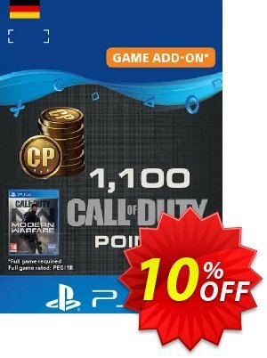 Call of Duty Modern Warfare - 1100 Points PS4 (Germany) discount coupon Call of Duty Modern Warfare - 1100 Points PS4 (Germany) Deal - Call of Duty Modern Warfare - 1100 Points PS4 (Germany) Exclusive Easter Sale offer for iVoicesoft