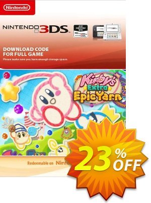 Kirby's Extra Epic Yarn 3DS discount coupon Kirby's Extra Epic Yarn 3DS Deal - Kirby's Extra Epic Yarn 3DS Exclusive Easter Sale offer for iVoicesoft