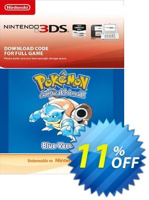 Pokemon Blue Edition (UK) 3DS Coupon discount Pokemon Blue Edition (UK) 3DS Deal. Promotion: Pokemon Blue Edition (UK) 3DS Exclusive Easter Sale offer for iVoicesoft