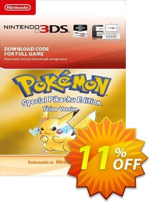 Pokemon Yellow Edition (Spain) 3DS Coupon discount Pokemon Yellow Edition (Spain) 3DS Deal. Promotion: Pokemon Yellow Edition (Spain) 3DS Exclusive Easter Sale offer for iVoicesoft