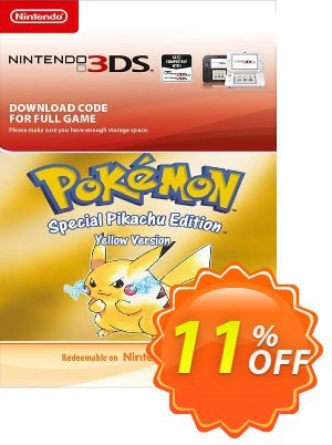 Pokemon Yellow Edition (UK) 3DS割引コード・Pokemon Yellow Edition (UK) 3DS Deal キャンペーン:Pokemon Yellow Edition (UK) 3DS Exclusive Easter Sale offer for iVoicesoft