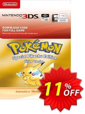 Pokemon Yellow Edition (UK) 3DS discount coupon Pokemon Yellow Edition (UK) 3DS Deal - Pokemon Yellow Edition (UK) 3DS Exclusive Easter Sale offer for iVoicesoft
