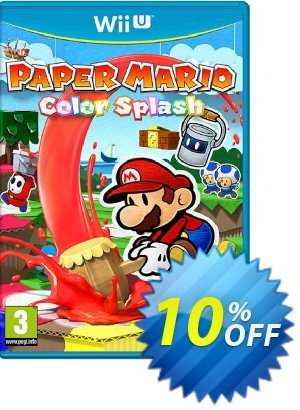 Paper Mario Color Splash Wii U - Game Code 프로모션 코드 Paper Mario Color Splash Wii U - Game Code Deal 프로모션: Paper Mario Color Splash Wii U - Game Code Exclusive Easter Sale offer for iVoicesoft