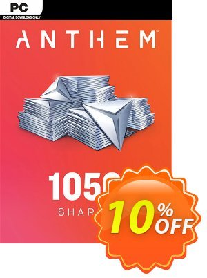 Anthem 1050 Shards Pack PC Coupon discount Anthem 1050 Shards Pack PC Deal. Promotion: Anthem 1050 Shards Pack PC Exclusive Easter Sale offer for iVoicesoft
