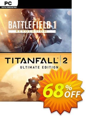 Battlefield One Revolution and Titanfall 2 Ultimate Edition Bundle PC Coupon, discount Battlefield One Revolution and Titanfall 2 Ultimate Edition Bundle PC Deal. Promotion: Battlefield One Revolution and Titanfall 2 Ultimate Edition Bundle PC Exclusive Easter Sale offer for iVoicesoft