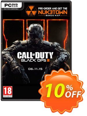 Call of Duty (COD): Black Ops III 3 + Nuketown DLC (PC) discount coupon Call of Duty (COD): Black Ops III 3 + Nuketown DLC (PC) Deal - Call of Duty (COD): Black Ops III 3 + Nuketown DLC (PC) Exclusive Easter Sale offer for iVoicesoft