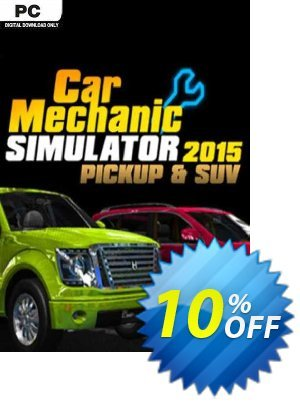 Car Mechanic Simulator 2015 PickUp & SUV PC Coupon, discount Car Mechanic Simulator 2015 PickUp & SUV PC Deal. Promotion: Car Mechanic Simulator 2015 PickUp & SUV PC Exclusive Easter Sale offer for iVoicesoft