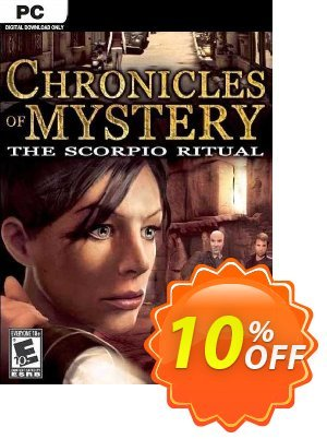 Chronicles of Mystery The Scorpio Ritual PC Coupon discount Chronicles of Mystery The Scorpio Ritual PC Deal. Promotion: Chronicles of Mystery The Scorpio Ritual PC Exclusive Easter Sale offer for iVoicesoft