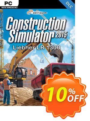 Construction Simulator 2015 Liebherr LR 1300 PC discount coupon Construction Simulator 2015 Liebherr LR 1300 PC Deal - Construction Simulator 2015 Liebherr LR 1300 PC Exclusive Easter Sale offer for iVoicesoft