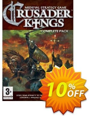Crusader Kings Complete Pack (PC) discount coupon Crusader Kings Complete Pack (PC) Deal - Crusader Kings Complete Pack (PC) Exclusive Easter Sale offer for iVoicesoft
