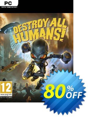 Destroy All Humans! PC 프로모션 코드 Destroy All Humans! PC Deal 프로모션: Destroy All Humans! PC Exclusive Easter Sale offer for iVoicesoft