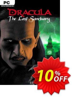 Dracula 2 The Last Sanctuary PC Coupon discount Dracula 2 The Last Sanctuary PC Deal. Promotion: Dracula 2 The Last Sanctuary PC Exclusive Easter Sale offer for iVoicesoft