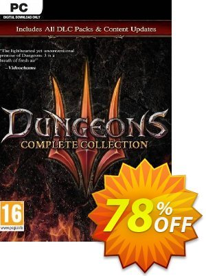 Dungeons 3 - Complete Collection PC discount coupon Dungeons 3 - Complete Collection PC Deal - Dungeons 3 - Complete Collection PC Exclusive Easter Sale offer for iVoicesoft