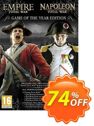 Empire and Napoleon Total War Collection - Game of the Year (PC) discount coupon Empire and Napoleon Total War Collection - Game of the Year (PC) Deal - Empire and Napoleon Total War Collection - Game of the Year (PC) Exclusive Easter Sale offer for iVoicesoft