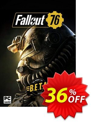 Fallout 76 PC inc BETA 프로모션 코드 Fallout 76 PC inc BETA Deal 프로모션: Fallout 76 PC inc BETA Exclusive Easter Sale offer for iVoicesoft