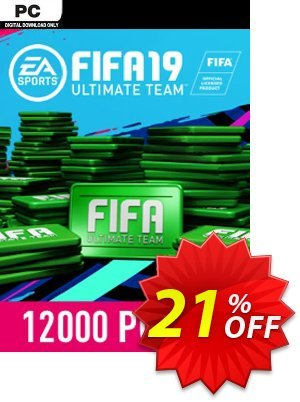 FIFA 19 - 12000 FUT Points PC 優惠券,折扣碼 FIFA 19 - 12000 FUT Points PC Deal,促銷代碼: FIFA 19 - 12000 FUT Points PC Exclusive Easter Sale offer for iVoicesoft