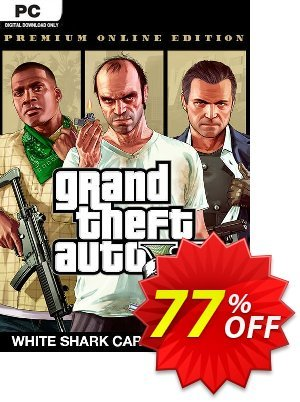 Grand Theft Auto V: Premium Online Edition & White Shark Card Bundle PC 優惠券,折扣碼 Grand Theft Auto V: Premium Online Edition & White Shark Card Bundle PC Deal,促銷代碼: Grand Theft Auto V: Premium Online Edition & White Shark Card Bundle PC Exclusive Easter Sale offer for iVoicesoft