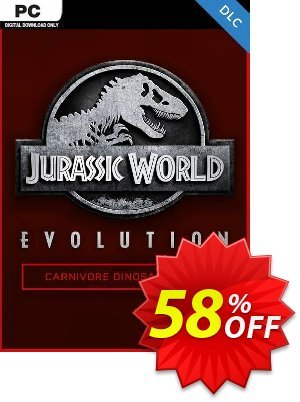Jurassic World Evolution PC: Carnivore Dinosaur Pack DLC discount coupon Jurassic World Evolution PC: Carnivore Dinosaur Pack DLC Deal - Jurassic World Evolution PC: Carnivore Dinosaur Pack DLC Exclusive Easter Sale offer for iVoicesoft