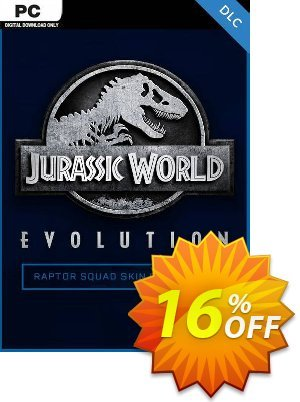 Jurassic World Evolution PC: Raptor Squad Skin Collection DLC discount coupon Jurassic World Evolution PC: Raptor Squad Skin Collection DLC Deal - Jurassic World Evolution PC: Raptor Squad Skin Collection DLC Exclusive Easter Sale offer for iVoicesoft