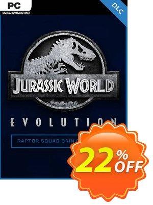 Jurassic World Evolution PC: Raptor Squad Skin Collection DLC 프로모션 코드 Jurassic World Evolution PC: Raptor Squad Skin Collection DLC Deal 프로모션: Jurassic World Evolution PC: Raptor Squad Skin Collection DLC Exclusive Easter Sale offer for iVoicesoft