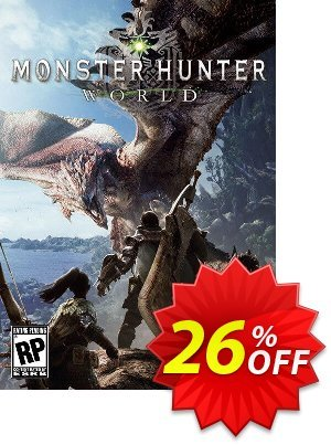 Monster Hunter World PC + DLC discount coupon Monster Hunter World PC + DLC Deal - Monster Hunter World PC + DLC Exclusive Easter Sale offer for iVoicesoft