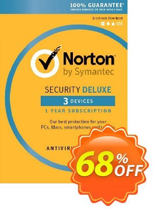 Norton Security Deluxe - 1 User 3 Devices 프로모션 코드 Norton Security Deluxe - 1 User 3 Devices Deal 프로모션: Norton Security Deluxe - 1 User 3 Devices Exclusive Easter Sale offer for iVoicesoft