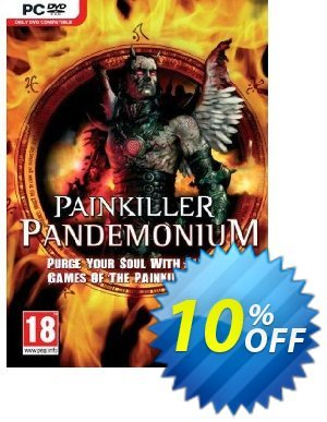 Painkiller Pandemonium (PC) Coupon discount Painkiller Pandemonium (PC) Deal. Promotion: Painkiller Pandemonium (PC) Exclusive Easter Sale offer for iVoicesoft