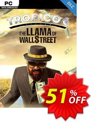 Tropico 6 PC - The Llama of Wall Street DLC discount coupon Tropico 6 PC - The Llama of Wall Street DLC Deal - Tropico 6 PC - The Llama of Wall Street DLC Exclusive Easter Sale offer for iVoicesoft