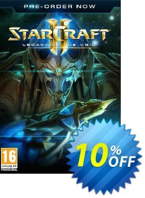 Starcraft 2: Legacy Of The Void + BETA Access PC/Mac Coupon, discount Starcraft 2: Legacy Of The Void + BETA Access PC/Mac Deal. Promotion: Starcraft 2: Legacy Of The Void + BETA Access PC/Mac Exclusive Easter Sale offer for iVoicesoft