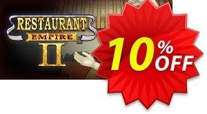 Restaurant Empire II PC 프로모션 코드 Restaurant Empire II PC Deal 프로모션: Restaurant Empire II PC Exclusive Easter Sale offer for iVoicesoft