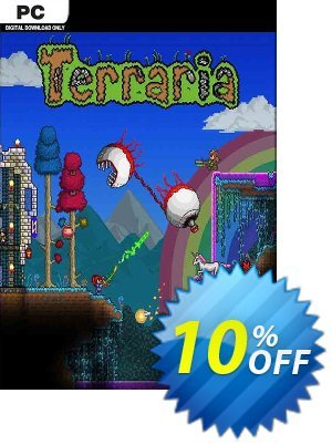 Terraria PC Coupon discount Terraria PC Deal. Promotion: Terraria PC Exclusive Easter Sale offer for iVoicesoft