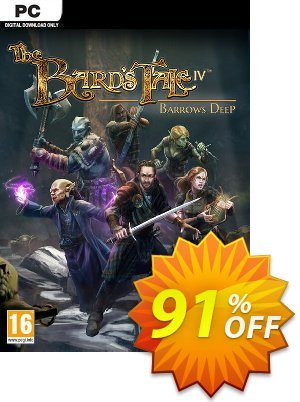 The Bards Tale IV 4 Barrows Deep PC Coupon discount The Bards Tale IV 4 Barrows Deep PC Deal. Promotion: The Bards Tale IV 4 Barrows Deep PC Exclusive Easter Sale offer for iVoicesoft