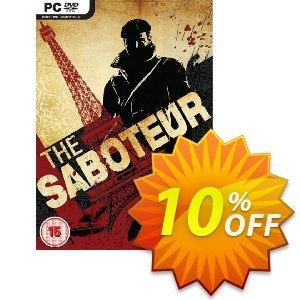The Saboteur (PC) Coupon discount The Saboteur (PC) Deal. Promotion: The Saboteur (PC) Exclusive Easter Sale offer for iVoicesoft
