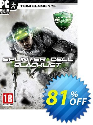 Tom Clancys Splinter Cell Blacklist - Deluxe Edition PC discount coupon Tom Clancys Splinter Cell Blacklist - Deluxe Edition PC Deal - Tom Clancys Splinter Cell Blacklist - Deluxe Edition PC Exclusive Easter Sale offer for iVoicesoft