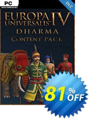Europa Universalis IV 4 Dharma Content Pack PC discount coupon Europa Universalis IV 4 Dharma Content Pack PC Deal - Europa Universalis IV 4 Dharma Content Pack PC Exclusive Easter Sale offer for iVoicesoft