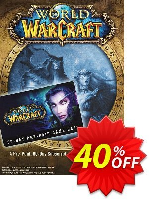 World of Warcraft 60 Day Pre-paid Game Card PC/Mac (US) discount coupon World of Warcraft 60 Day Pre-paid Game Card PC/Mac (US) Deal - World of Warcraft 60 Day Pre-paid Game Card PC/Mac (US) Exclusive Easter Sale offer for iVoicesoft