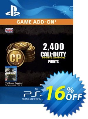 Call of Duty (COD) Infinite Warfare - 2400 Points PS4 discount coupon Call of Duty (COD) Infinite Warfare - 2400 Points PS4 Deal - Call of Duty (COD) Infinite Warfare - 2400 Points PS4 Exclusive Easter Sale offer for iVoicesoft