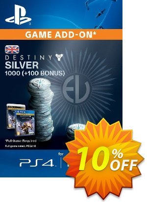 Destiny Silver 1000 (+100) PS3/PS4 프로모션 코드 Destiny Silver 1000 (+100) PS3/PS4 Deal 프로모션: Destiny Silver 1000 (+100) PS3/PS4 Exclusive Easter Sale offer for iVoicesoft