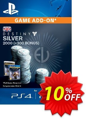 Destiny Silver 2000 (300) PS4 discount coupon Destiny Silver 2000 (300) PS4 Deal - Destiny Silver 2000 (300) PS4 Exclusive Easter Sale offer for iVoicesoft