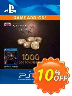 Middle-Earth: Shadow of War - 1050 Gold PS4 discount coupon Middle-Earth: Shadow of War - 1050 Gold PS4 Deal - Middle-Earth: Shadow of War - 1050 Gold PS4 Exclusive Easter Sale offer for iVoicesoft