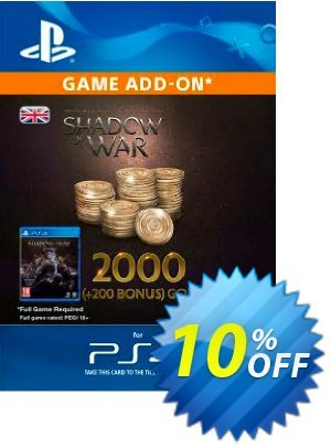 Middle-Earth: Shadow of War - 2200 Gold PS4 discount coupon Middle-Earth: Shadow of War - 2200 Gold PS4 Deal - Middle-Earth: Shadow of War - 2200 Gold PS4 Exclusive Easter Sale offer for iVoicesoft