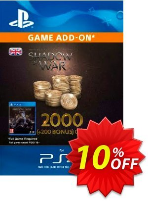 Middle-Earth: Shadow of War - 2200 Gold PS4 프로모션 코드 Middle-Earth: Shadow of War - 2200 Gold PS4 Deal 프로모션: Middle-Earth: Shadow of War - 2200 Gold PS4 Exclusive Easter Sale offer for iVoicesoft