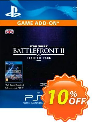 Star Wars Battlefront 2 Starter Pack PS4 discount coupon Star Wars Battlefront 2 Starter Pack PS4 Deal - Star Wars Battlefront 2 Starter Pack PS4 Exclusive Easter Sale offer for iVoicesoft