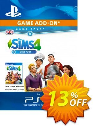 The Sims 4 - Dine Out Game Pack PS4 discount coupon The Sims 4 - Dine Out Game Pack PS4 Deal - The Sims 4 - Dine Out Game Pack PS4 Exclusive Easter Sale offer for iVoicesoft