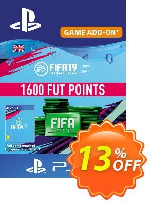 1600 FIFA 19 Points PS4 PSN Code - UK account discount coupon 1600 FIFA 19 Points PS4 PSN Code - UK account Deal - 1600 FIFA 19 Points PS4 PSN Code - UK account Exclusive Easter Sale offer for iVoicesoft