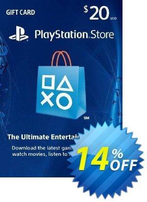 $20 PlayStation Store Gift Card - PS Vita/PS3/PS4 Code Coupon discount $20 PlayStation Store Gift Card - PS Vita/PS3/PS4 Code Deal